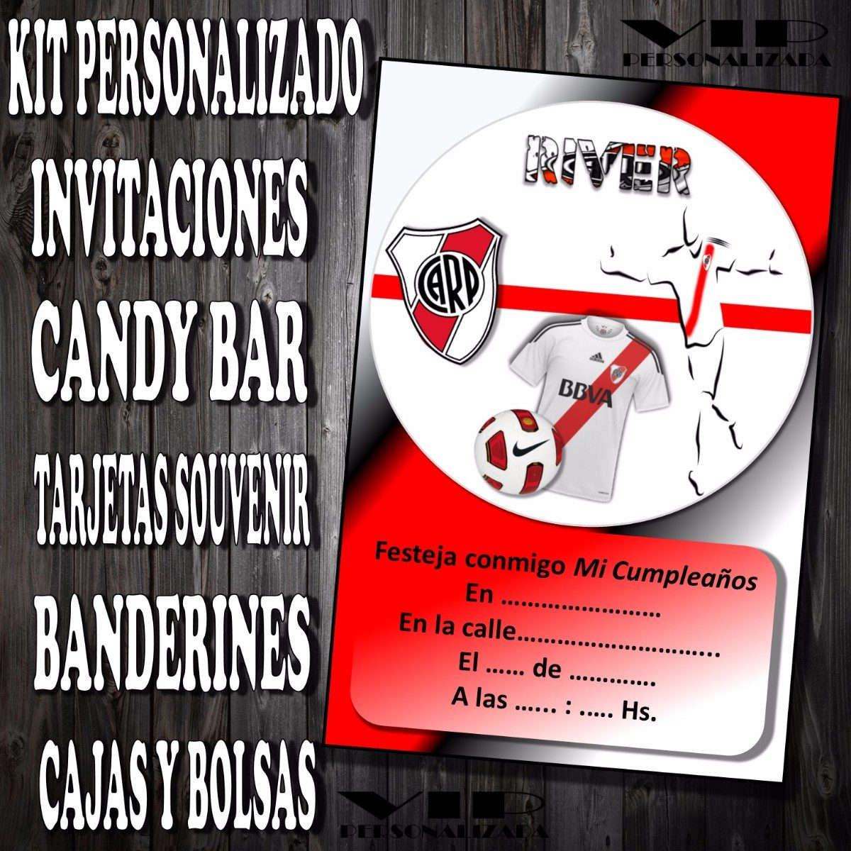 Kit Imprimible River Plate Cumpleaños Bautismo Candy