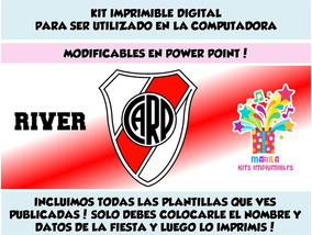 Kit Imprimible River Plate Futbol Candy Bar 2x1