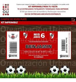 Kit Imprimible River Plate Personalizado Candybar Cumpleaños