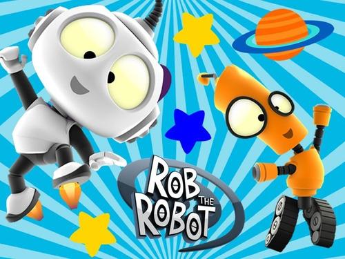 kit imprimible rob el robot tarjetas cumples cotillon #1