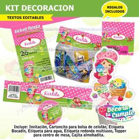 Kit Imprimible Rosita Fresita Invitación Decoración C63