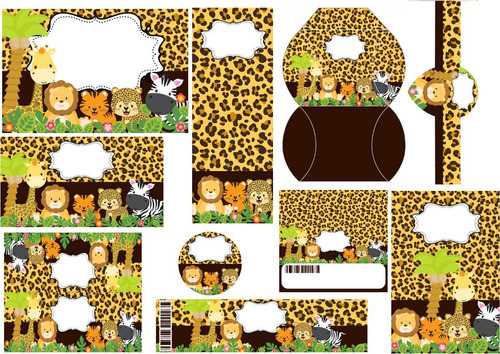 kit imprimible safari animal print no 3