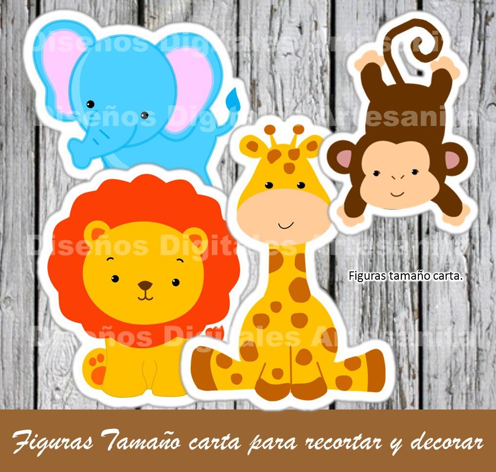 Kit Imprimible Safari, Animalitos De La Selva