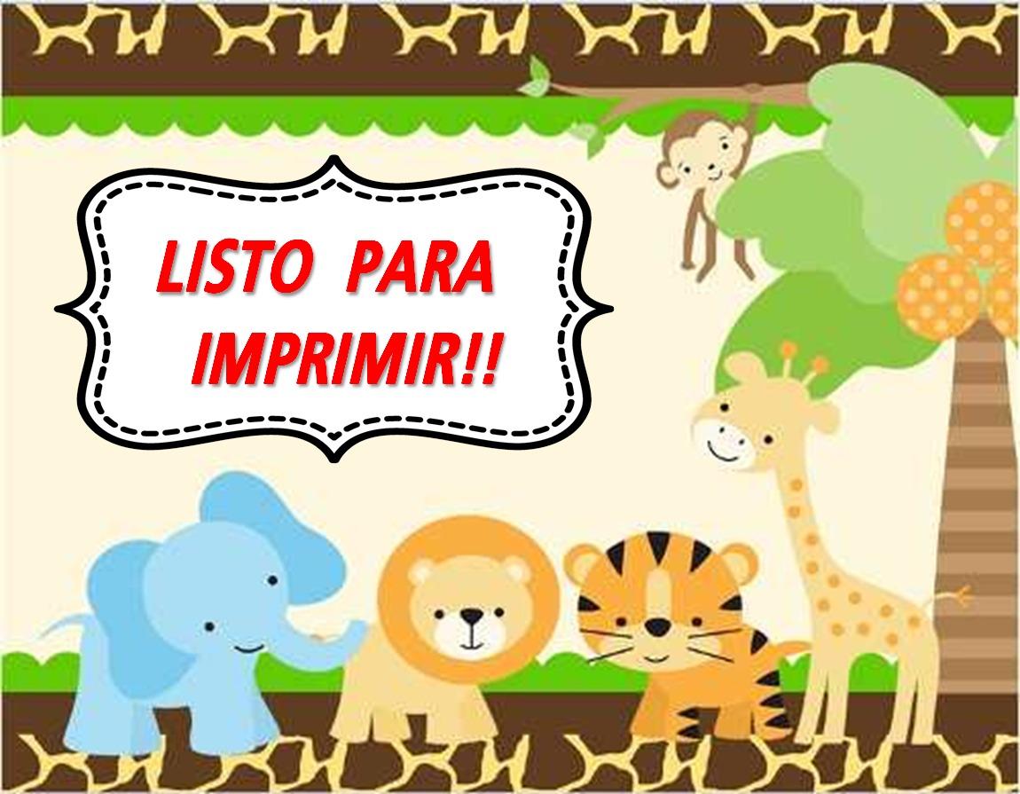 Kit Imprimible Safari Animalitos Selva Listo Para Imprimir