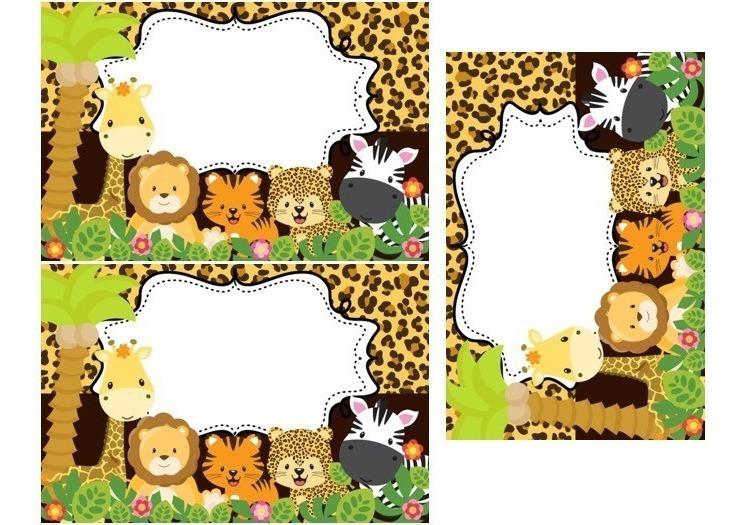 Kit Imprimible Safari Invitación Candy Etiquetas