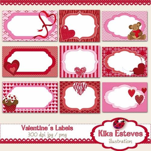 kit imprimible san valentin corazones imagenes clipart cod44