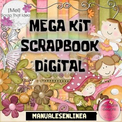kit imprimible scrapbook digital -scrapbooking decoupage