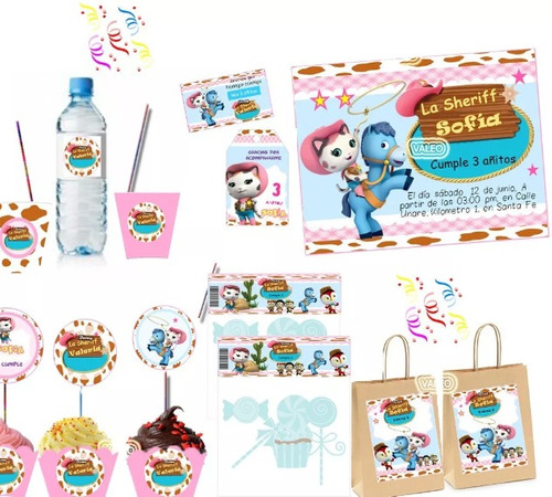 kit imprimible sheriff callie candy bar personalizado