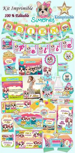 kit imprimible simones perritos invitaciones candy bar new