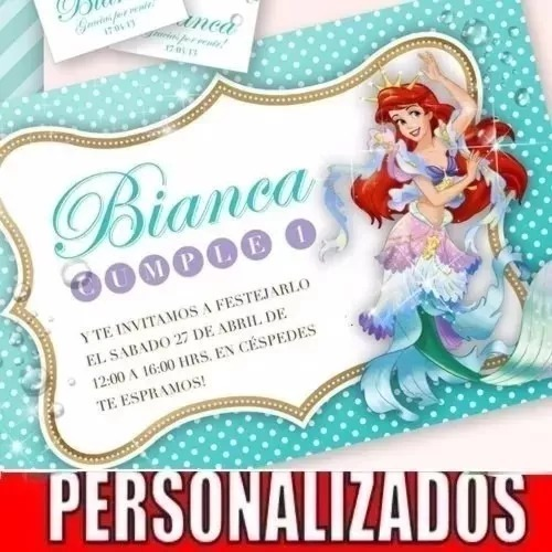 Kit Imprimible Sirenita Disney Decoración Fiestas Cumple 18 - $ 315 ...