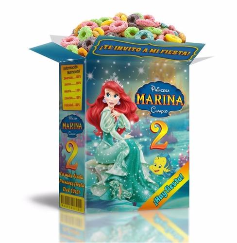 kit imprimible sirenita princesa ariel cotillón infantil 2x1
