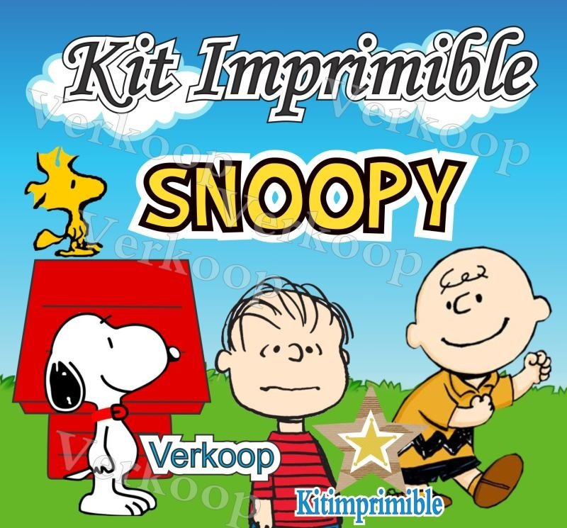 Kit Imprimible Snoopy Candy Bar Fiesta Personalizada Mx - $ 220.00 ...