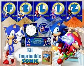 Kit Imprimible Sonic Completo Envio Automatico