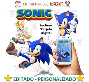 Kit Imprimible Sonic Editado Personalizado