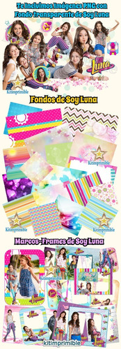 kit imprimible soy luna candy bar fiesta completa editable