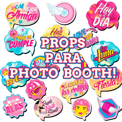 kit imprimible soy luna personalizado! candy bar photo booth