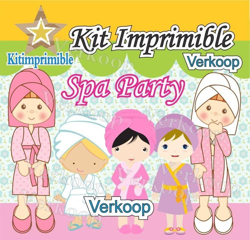 Kit Imprimible Spa Party + Candy Bar Invitaciones Fiesta - $ 307,00 ...