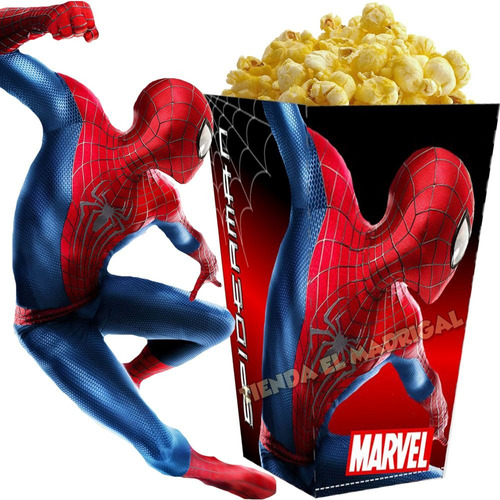 kit imprimible spiderman hombre araña candy bar cotillon 2x1