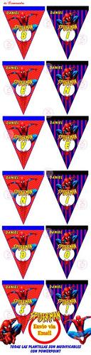 kit imprimible spiderman hombre arana candy bar golosinas