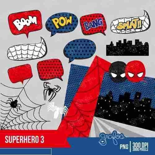 kit imprimible spiderman imagenes clipart