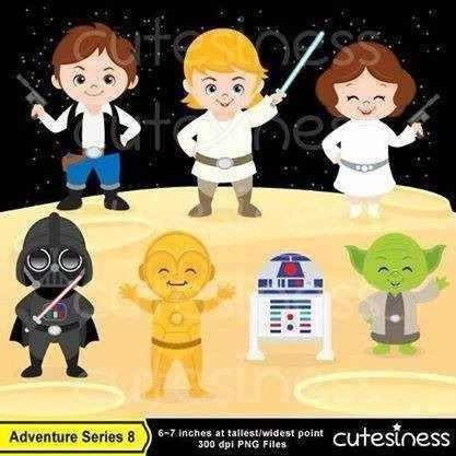 kit imprimible star wars 2 imagenes clipart