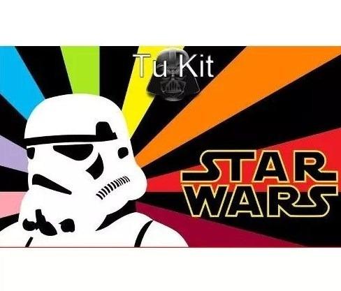 kit imprimible star wars fiesta 3x1