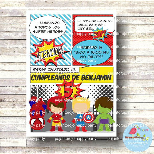 kit imprimible super heroes