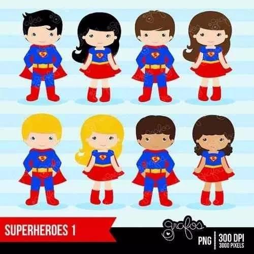 kit imprimible superman imagenes clipart