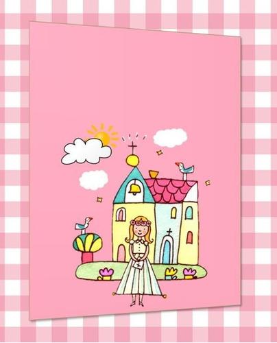 kit imprimible tarjetas de invitacion primera comunion
