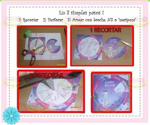 kit imprimible tarjetas giratorias invitaciones cumples baby