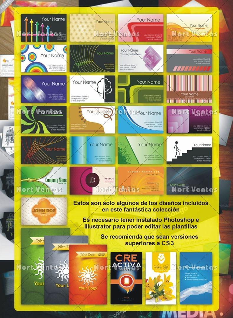Kit Imprimible Tarjetas Presentación Personal Plantillas - $ 1.990 ...