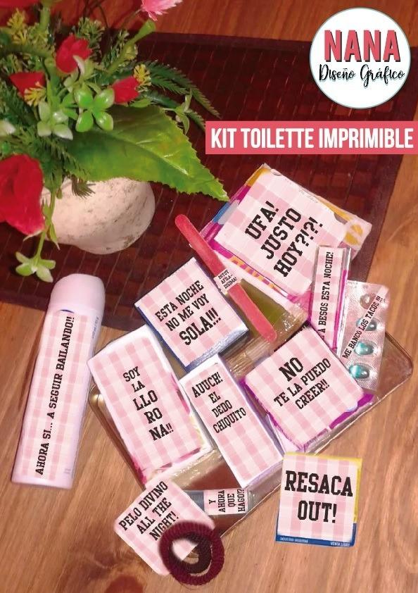 Kit Imprimible Toilette Baño Juvenil Fiesta 15 Xv Cumple