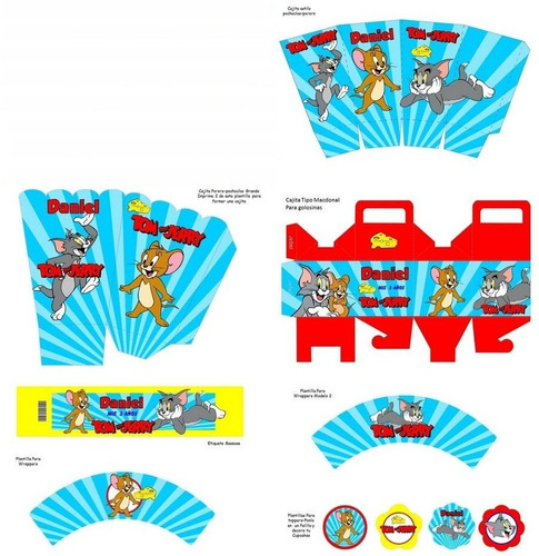 kit imprimible tom y jerry fiesta 3x1