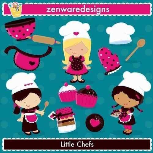 kit imprimible top chef 3 imagenes clipart