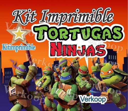 kit imprimible tortugas ninja imagenes marcos snoopy