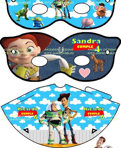kit imprimible toy story 3 adornos invitaciones recuerdos y+