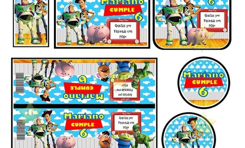 kit imprimible toy story 3 cumpleaños cotillon fiesta 2x1