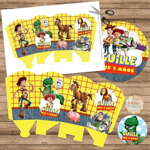 kit imprimible toy story 4 decoración candybar cumpleaños