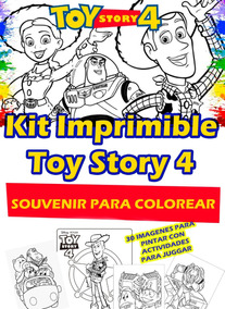 Kit Imprimible Toy Story 4 Revista Bolsita Centro De Mesa
