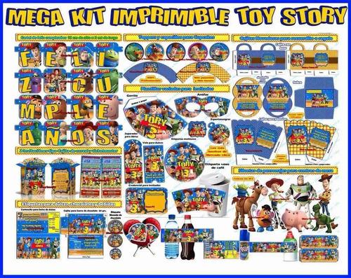 kit imprimible toy story completo envio automatico
