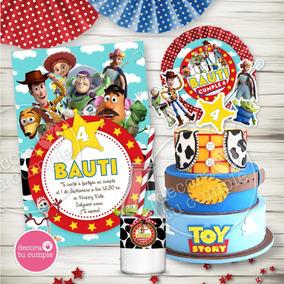 Kit Imprimible Toy Story Invitaciones Candybar Personalizado
