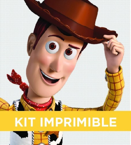 Kit Imprimible Toy Story Woody Cumple Invitacion Banderines 100