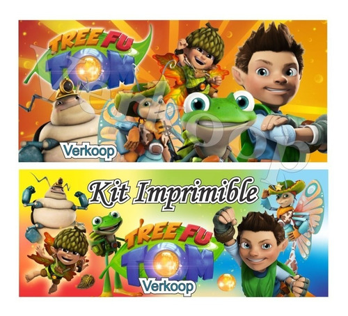 kit imprimible tree fu tom + candy bar fiesta completa ar