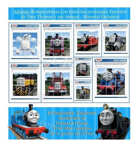 kit imprimible tren thomas amigos invitaciones tarjetas
