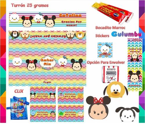 kit imprimible tsum tsum candy bar cotillon cumple y mas 2x1