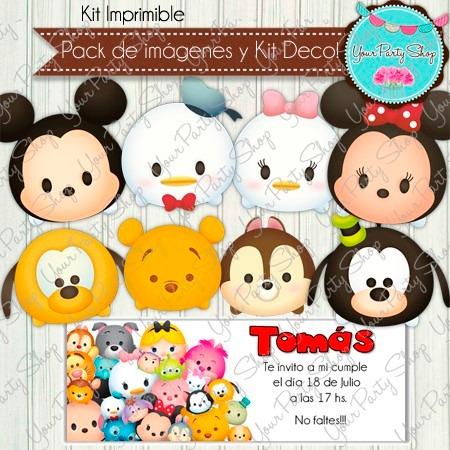 Kit Imprimible Tsum Tsum Disney Cumple Invitacion Candy Bar - $ 150 ...
