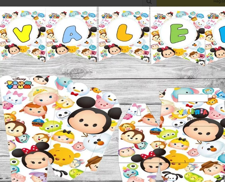 Kit Imprimible Tsum Tsum Disney Invitación - $ 200.00 en Mercado Libre