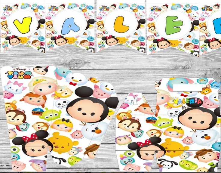 Kit Imprimible Tsum Tsum Disney Invitaciones Candy Bar - $ 15.000 en ...