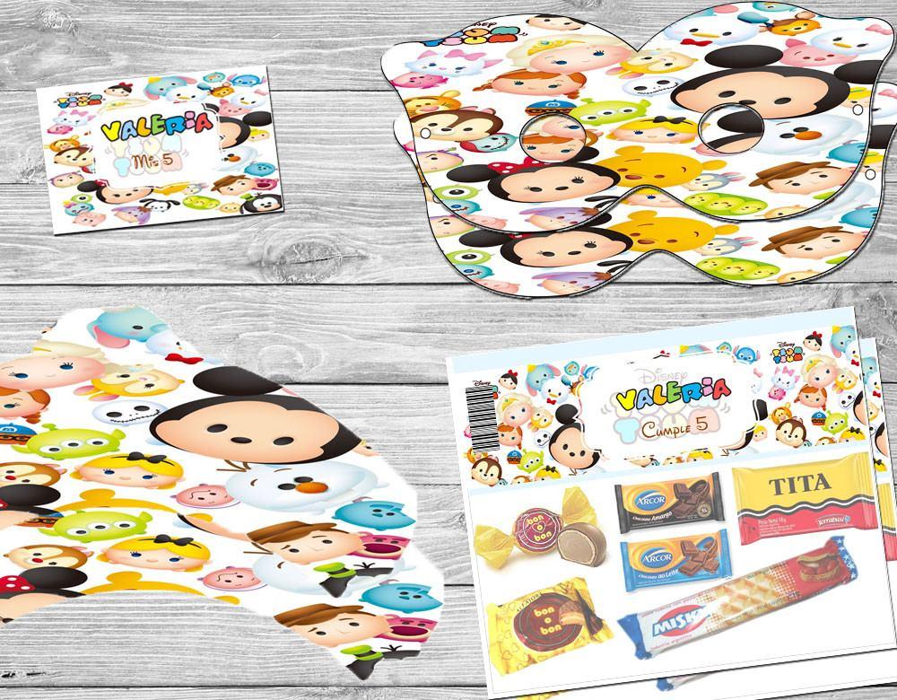 Kit Imprimible Tsum Tsum Disney Invitaciones Candy Bar - $ 55,00 en ...
