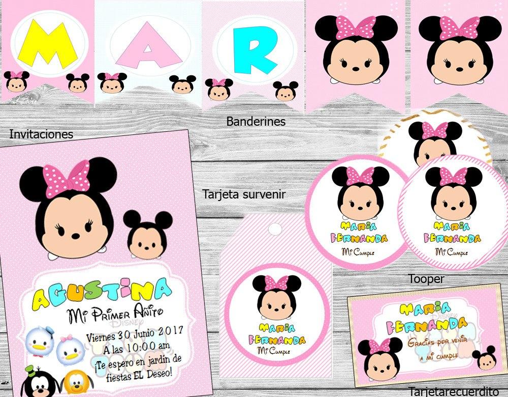 Kit Imprimible Tsum Tsum Minnie Disney Candy Bar - $ 200,00 en ...